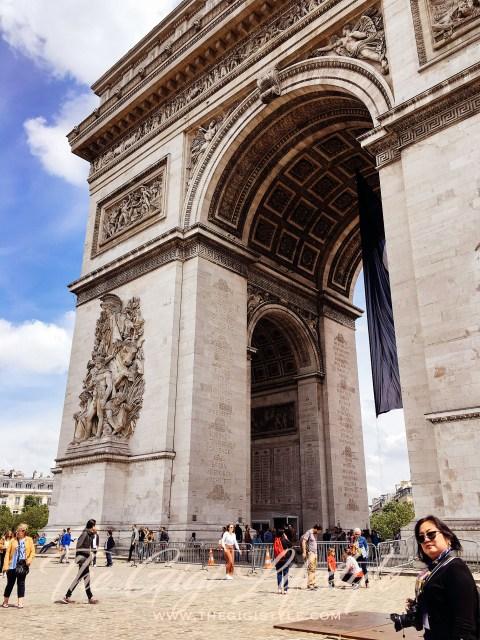 Paris' iconic Arc de Triomphe.
