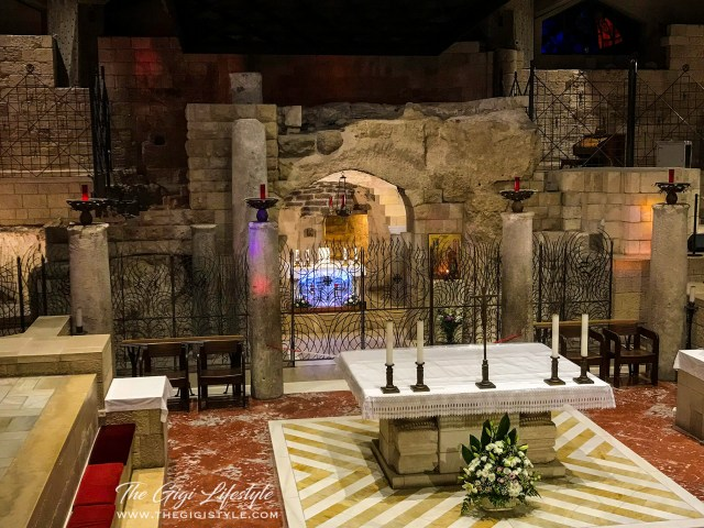 The house of Mary. The altar is where the Angel appeared to her.