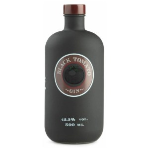 Black tomato gin bottle
