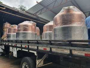 The stills ready to be delivered to Amazzoni