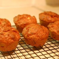 Beetroot, feta and thyme muffins