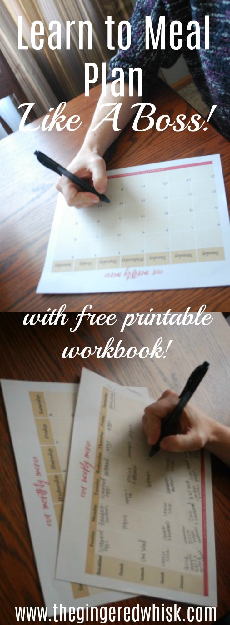 Learn how to make meal planning easy and stress free and fit your life style! Free Printable workbook included! How to Meal Plan, Learn to Meal Plan Like A Boss, Meal Planning 101