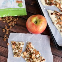 Apple Cinnamon Granola White Chocolate Bark