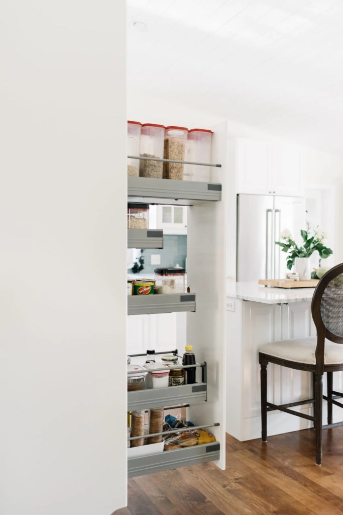 open pullout pantry