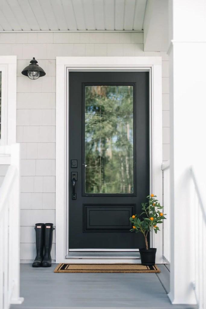 classic black door