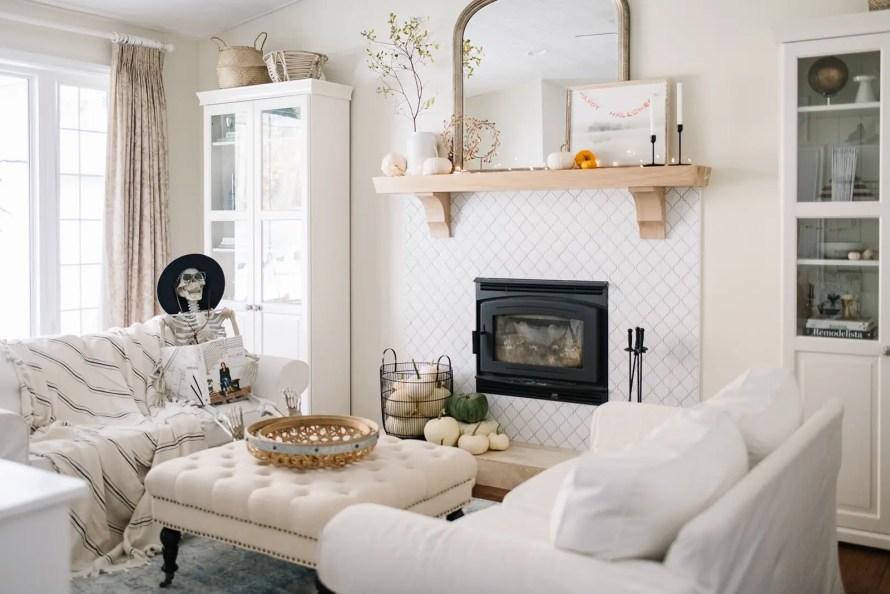 A neutral Halloween Living Space