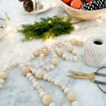 How To Make A Wood Bead Garland The Ginger Home