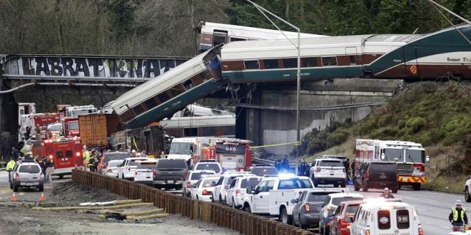 Amtrak high speed train crash