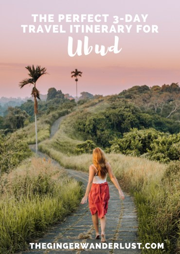 """Nestled in the jungle in the heart of Bali, and made famous by """"Eat, Pray, Love"""" is the beautiful town of Ubud. From exploring the rice terraces to playing with monkeys, there are plenty of things to do in Ubud. Here is my 3-day Ubud itinerary!"""