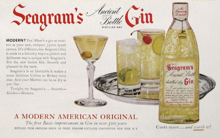 Seagram's Ancient BOttle Distilled Dry Gin