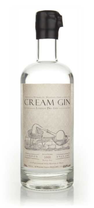 Cream Gin Bottle