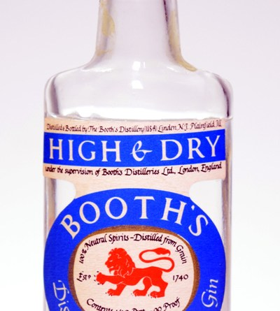 Booth's High and Dry Gin (1960's)