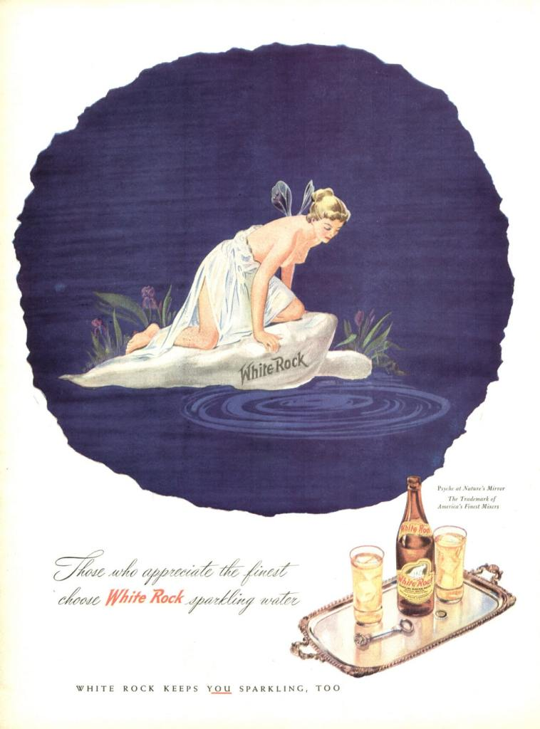 White Rock Sparkling Water 1945 Ad.