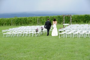 Couple in wedding aisle - Photo credit Rick Bacmanski Photo Artistry