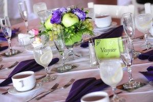 Reception table setting - Photo credit Rick Bacmanski Photo Artistry