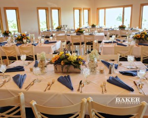 Reception table setting - Photo credit Baker Photography