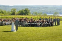 Outdoor wedding on the grounds - Photo credit Baker Photography