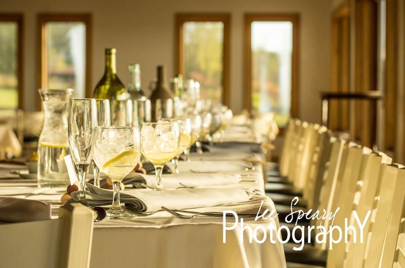 Long table reception setup