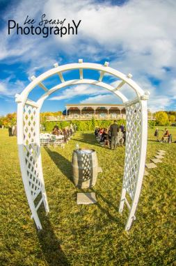 Wedding ceremony arch – Photo credit Lee Speary Photography
