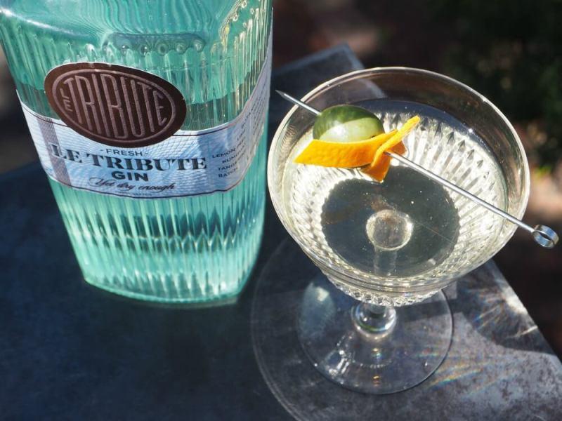 The tribute gin martini