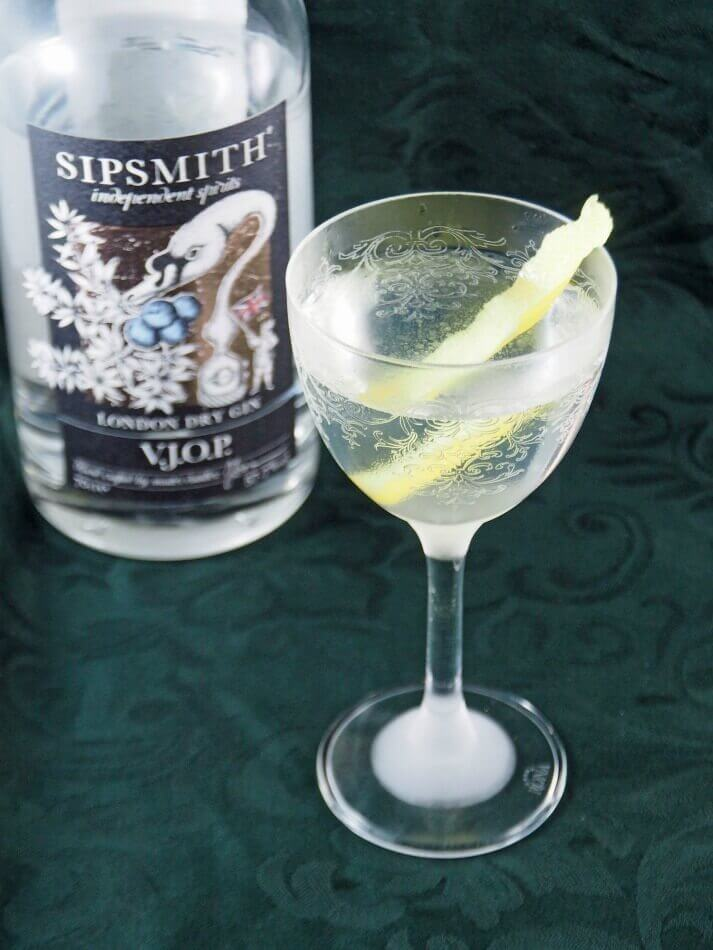 Sipsmith wet martini