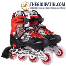 Giày patin long feng 906 Đỏ đen