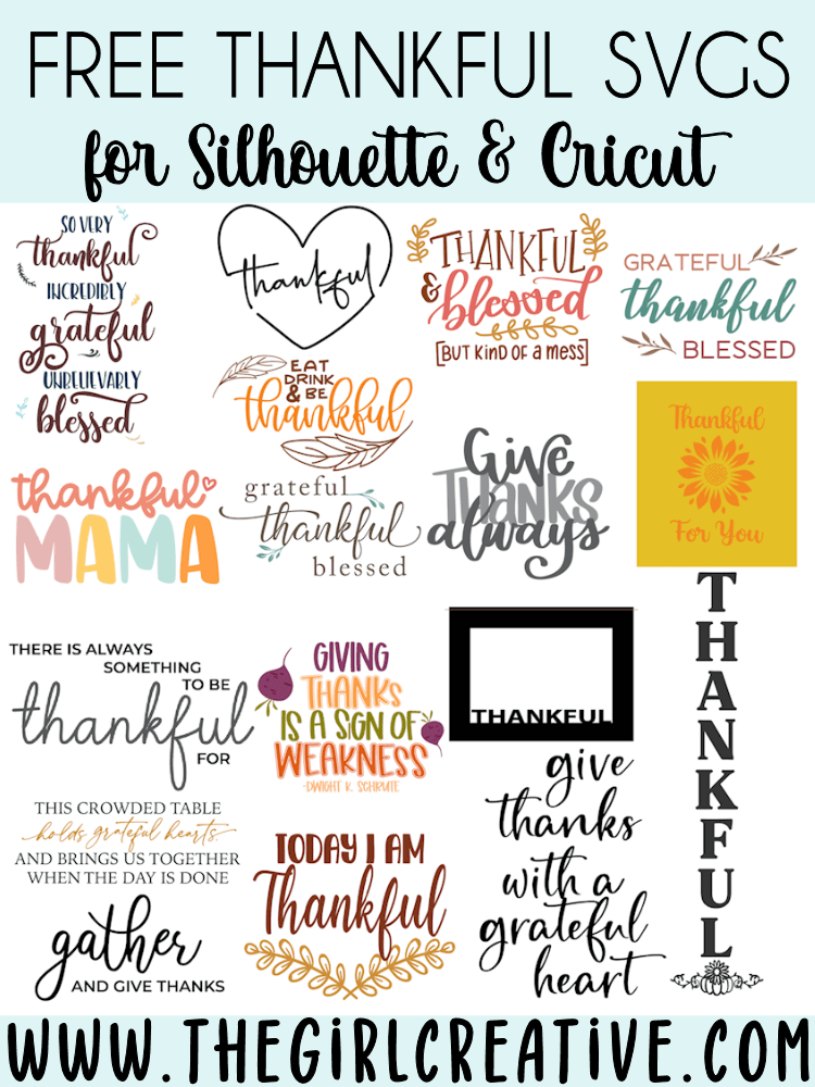 Thankful Svg : thankful, Thankful, Files, Creative