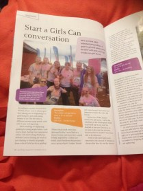 A Colourful Senior Section makes it into Girlguiding magazine