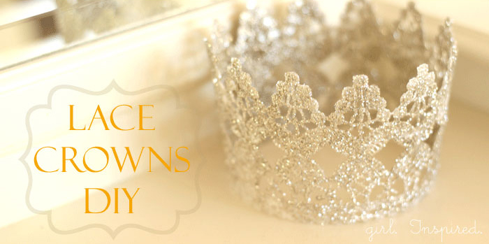 Make princess crowns from Lace!!