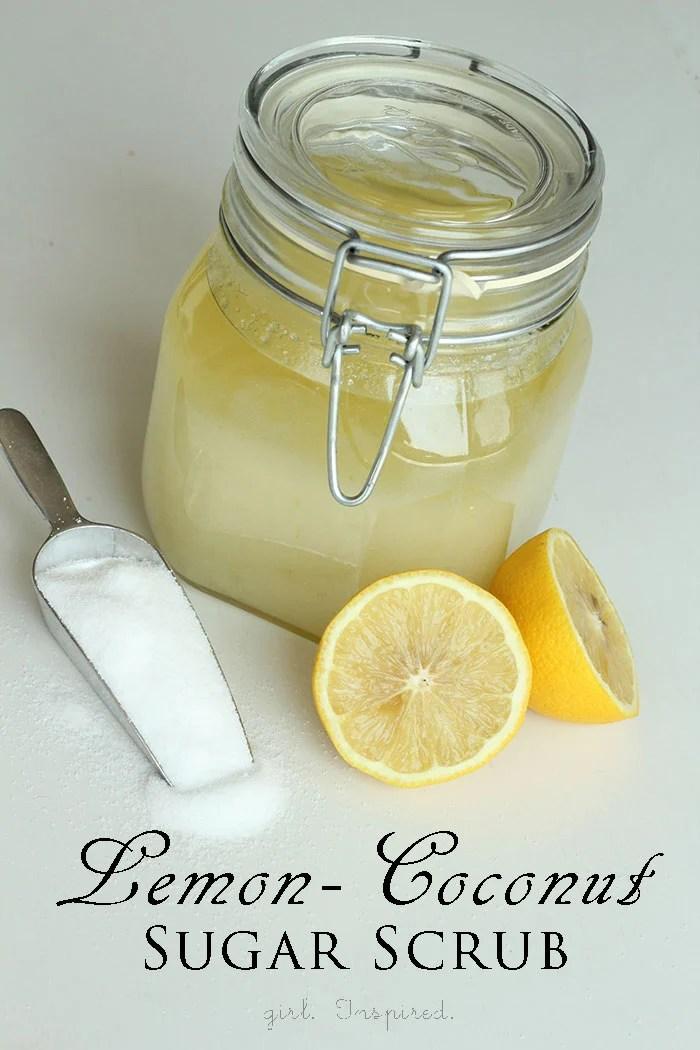 Lemon Coconut Sugar Scrub