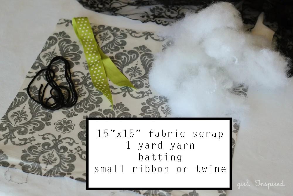 supplies for No Sew Fabric Pumpkins