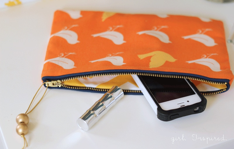 Zippered Clutch Sewing Tutorial
