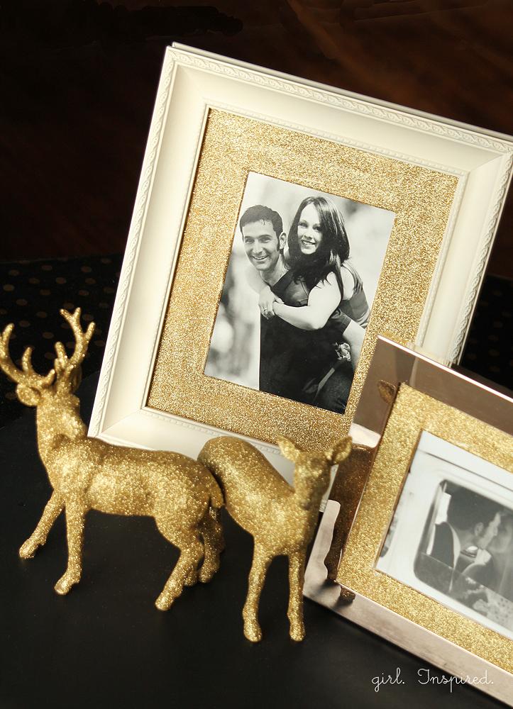 Glitter Mat Board for Picture Frames - DIY