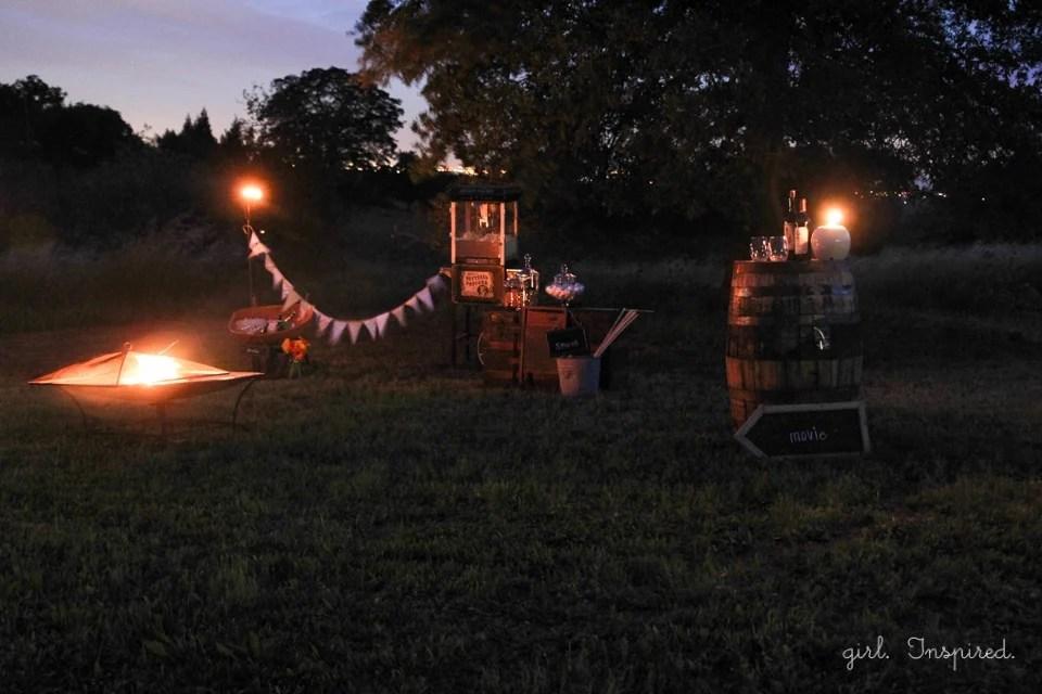 Outdoor Movie Night after dark