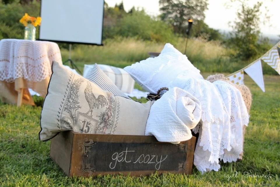 Outdoor Movie Night - get cozy!