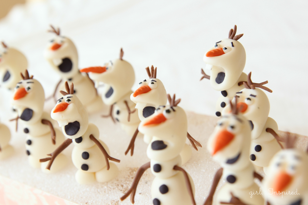 DIY Olaf Cupcake Toppers for Frozen Birthday Party