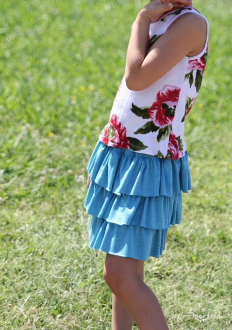 Tiered Ruffle Skirt Tutorial