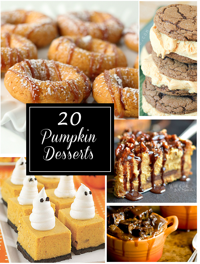 20 Pumpkin Desserts - so many of the best recipes to try! Yum!!