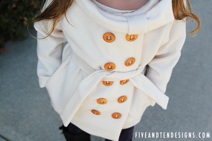 5&10 Bow Collar Coat
