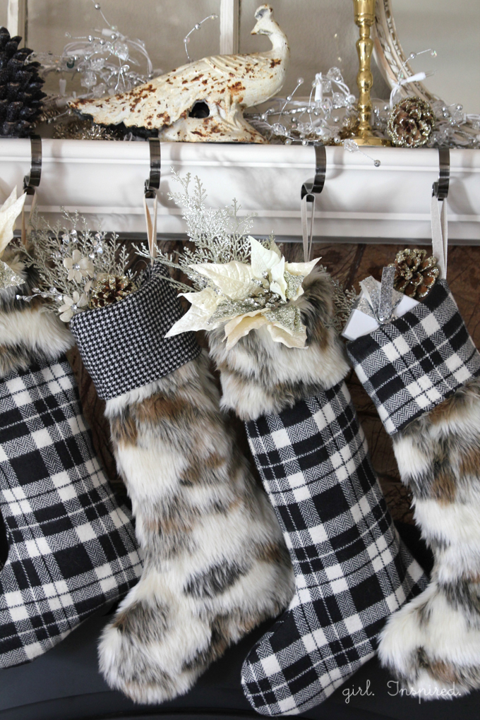 Easy Pattern and Tutorial for Fur and Flannel Christmas Stockings |  Girl. Inspired.