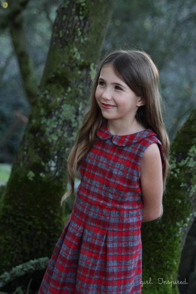 Pleated Plaid Holiday Dresses