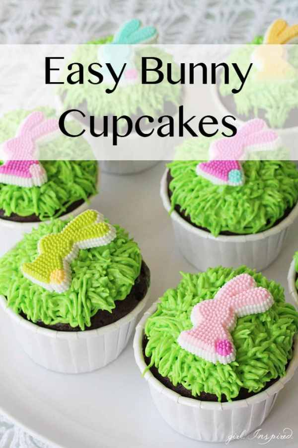 Easy Bunny Cupcakes girl Inspired
