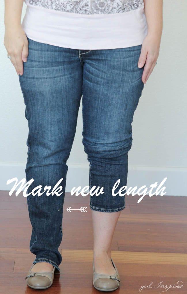 Quickly HEM your jeans into capris!