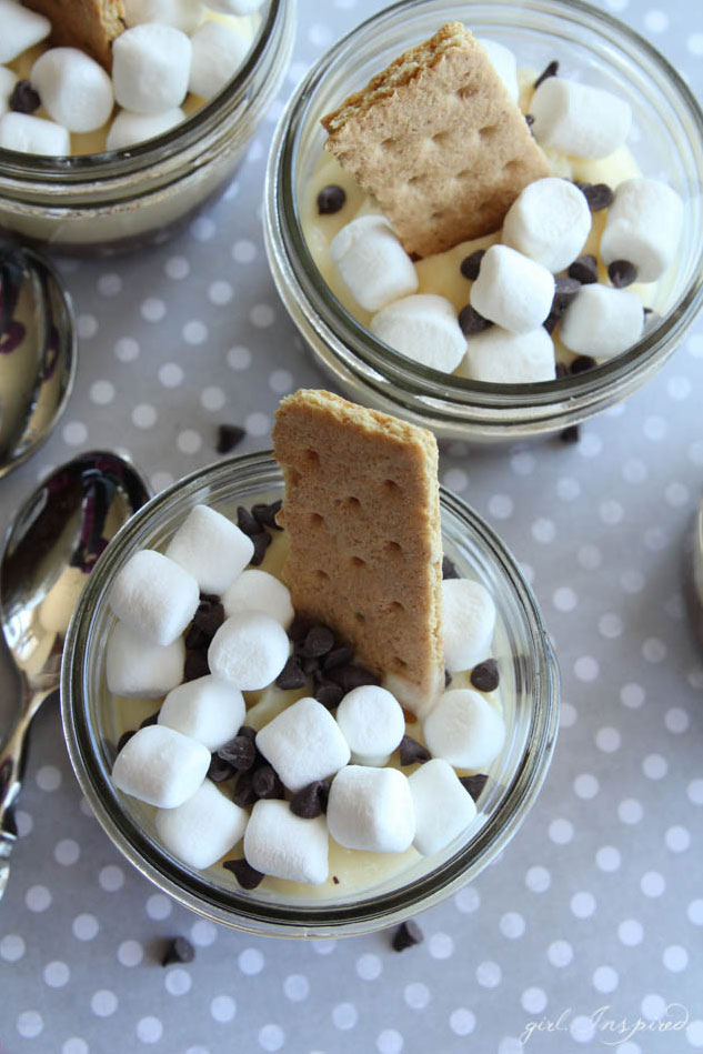 S'mores Cheesecake Parfaits