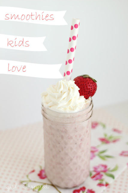 Make a smoothie that the kids will love - Strawberry Banana Smoothie recipe
