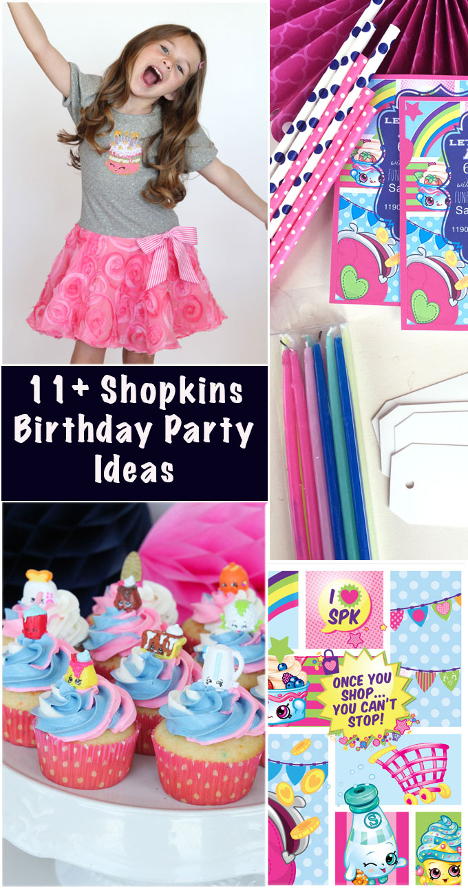 shopkins birthday party ideas girl