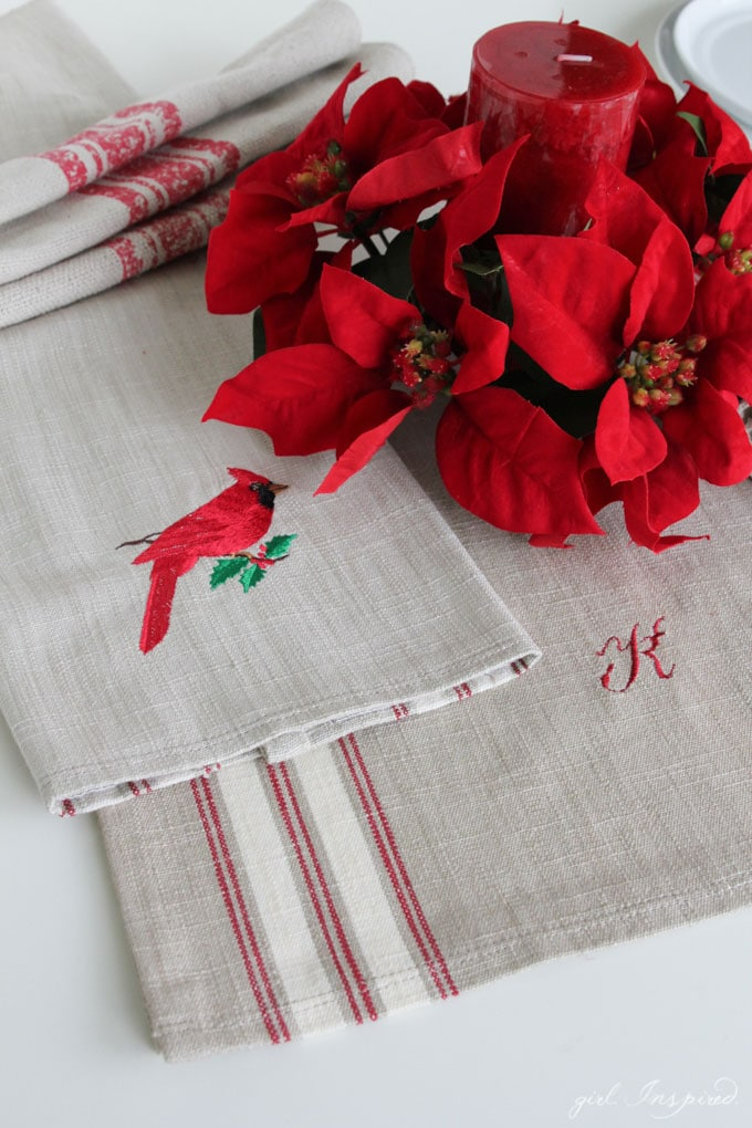Simple Gift Idea - embroidered table linens!!