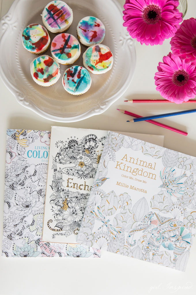 """Join the Adult Coloring Book trend - host a """"coloring"""" crafter noon."""