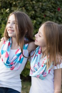 Infinity Scarf - Kids Sewing - girl. Inspired.