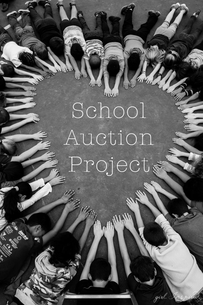 A simple and perfect photo to involve everyone in this school art auction class project! A beautiful piece of art that EVERYONE will want to display!